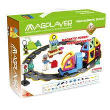DIY разведки образовательных детей магнитные игрушки поезд набор 75 шт