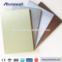 Gold Silver Grey Brushed Interior Decorative ACM Aluminum Plastic Cladding Panels Sheet
