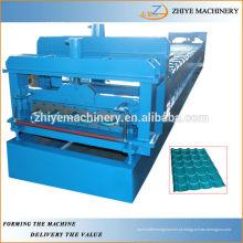 Telhas galvanizadas Telha metálica de vidro Máquinas de formação de frio ZY-GR066
