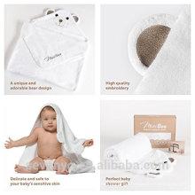 Fábrica de China Sevenyo venta caliente gran cantidad de oso 100% suave de bambú con capucha Toalla y Toalla de bebé conjunto ideal para recién nacidos