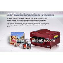 Máquina da imprensa do calor do vácuo da sublimação 3D à venda