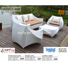 rota del poli jardín al aire libre cable patio moderno sofá sintético