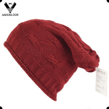 100%Acrylic Roll Edge Knit Crochet Hat