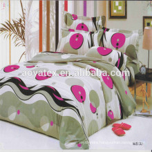 red ballon style adult big size 75gsm 100% polyester microfiber bedsheet sets
