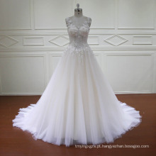 A Linha 3D Flores Lace Beading Vestidos De Noiva