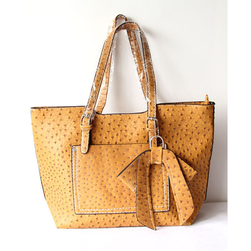 Orange Leather Totes For Women