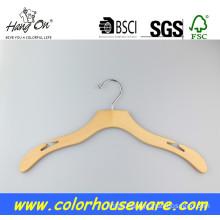 Anti-Slip wooden hanger for coat