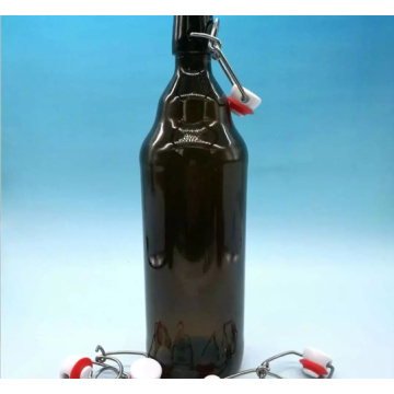 Brown Le buckle  glass bottle