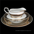 2020 hot wholesale 45 pieces new bone china dinnerware European luxury gold flower tableware sets for wedding party