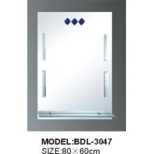 Espejo de baño de vidrio de plata de 5 mm de espesor (BDL-3047)