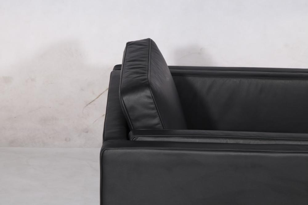 black sofa chair