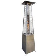 Pyramide de chauffage de patio extérieur en acier inoxydable de luxe au GPL