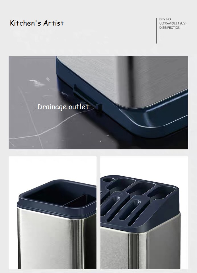 Knives Holder with Drainage Outet