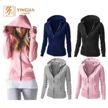 Autumn Custom Women Top Quality Zipper Hoodies Sweatshirts