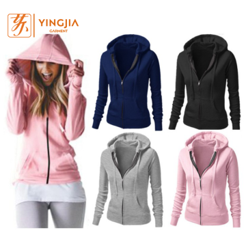 Autumn Custom Wanita Top Quality Zipper Hoodies Sweatshirts
