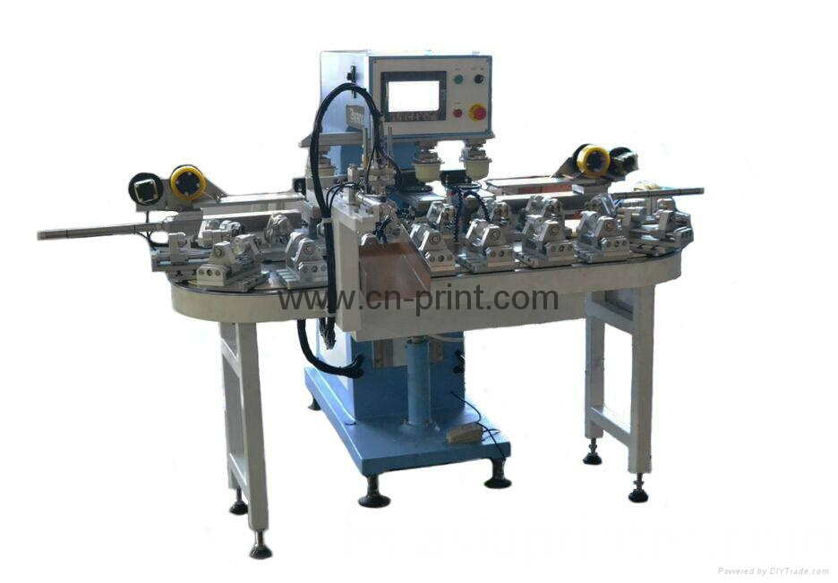 PLC 4 color rotary bottles pad printer