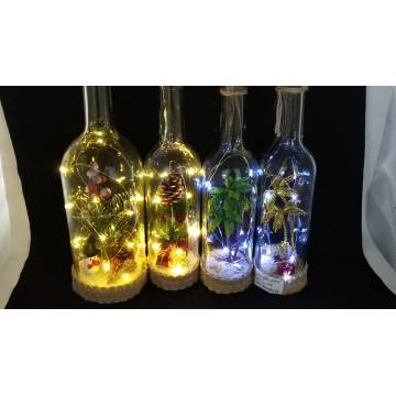 Luces de botellas de vino con luces de cadena LED
