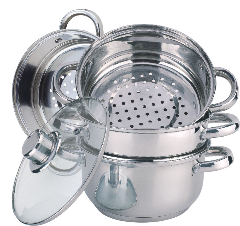 Economic 5pcs stainless steel steamer