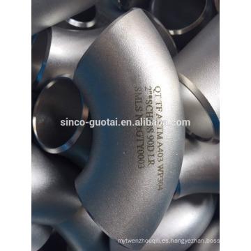 Curva de acero inoxidable pulido 304 316 para piezas sanitarias, automotrices, piezas de motocicletas