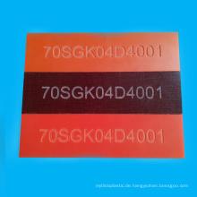 Isolations-orange doppeltes Seite bereiftes Bakelit-Blatt