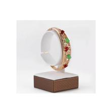 Barra blanca del soporte de la exhibición del reloj de la PU de la capa de madera (WS-WCW-G1)