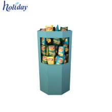 Les supermarchés vendent l'affichage de poubelle de carton de produits de Bespoke, support empilable de poubelle de stockage de jouet