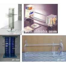 customized design wire DVD CD acrylic wall display rack
