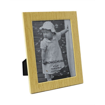 Деревянные зерна металла фоторамка для домашнего Деко