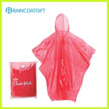 Casaco de chuva de PE descartável promocional