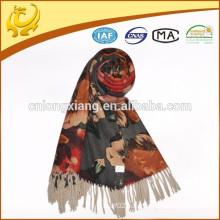 ODM custom available sample lady jacquard wool shawls