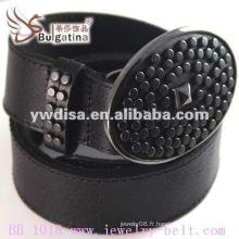 Hot Sell Classic Plain Black Leather Belt Wholesale