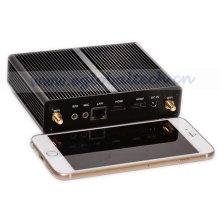Наименьший Безвентиляторный мини-ПК Celeron двухъядерный компьютер ладони сплава случая ITX Рамка HDMI 1080р