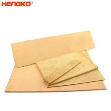 Sintered 20 60 micron porous filter metal brass bronze stainless steel plate sheet