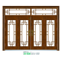 Steel security glass door classic design oval glass steel door popular