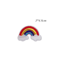 embroidery patch Garment Apparel Accessories Badges Rainbow
