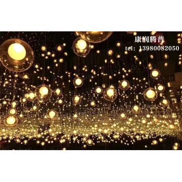 Lumières de boule de fibre optique synchrone à LED personnalisées