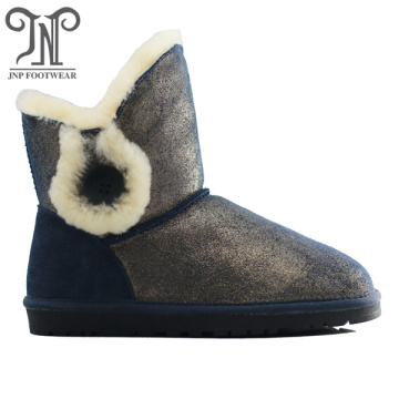 Fashion fluffy warm snow wool footwear ankle boots