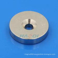 countersunk hole Permanent Ring NdFeB Magnet