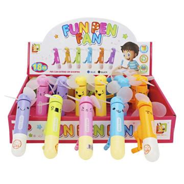 Juguetes de plástico de dibujos animados Mini abanico de mano Swing (H9090007)