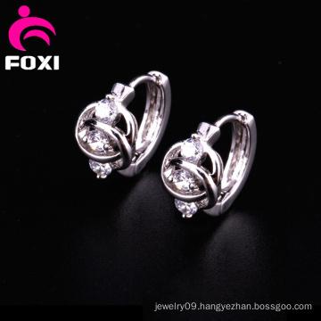 Trending 2016 Gemstone Hoop Earrings
