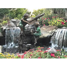 Garden Decoration Use Popular Designs Bronze Sculpture Boy Fishing Statue