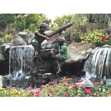 Украшения Сада Используют Популярные Дизайны Бронзовая Скульптура Мальчик Рыбалка Статуя