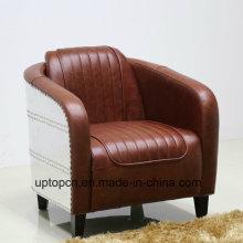 (СП-KS390) современный коричневый кожаный кресло лаундж для гостей