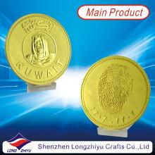 Conmemorativa de metal personalizado Kwait medalla de oro / monedas en relieve recuerdo medallón premio monedas / insignia monedas de oro (LZY-1300001)