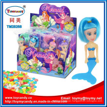 Plastic Sea Mermaid Girl Toy with Candy