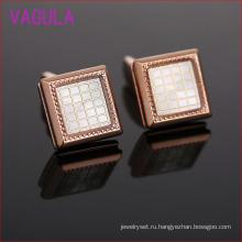 Розовое Золото Вставка Решетки Высококлассные Французский Запонки L51927