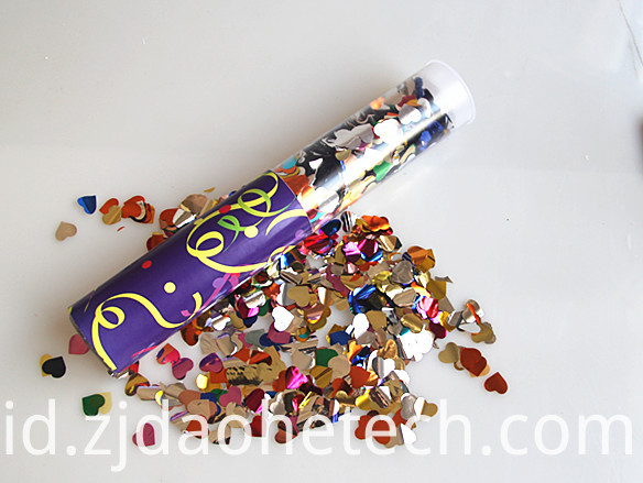 Silver Confetti Party Popper
