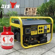 BISON (CHINA) Gás doméstico China 5kw 5 kva Gerador de gás Início elétrico para venda