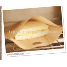 Non Stick Toaster Bags Sandwich Grilling Bag (Beige, Pack of 4)