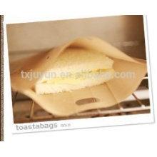 Non Stick Toaster Bags Sanduíche grelhar saco (Bege, Pack de 4)